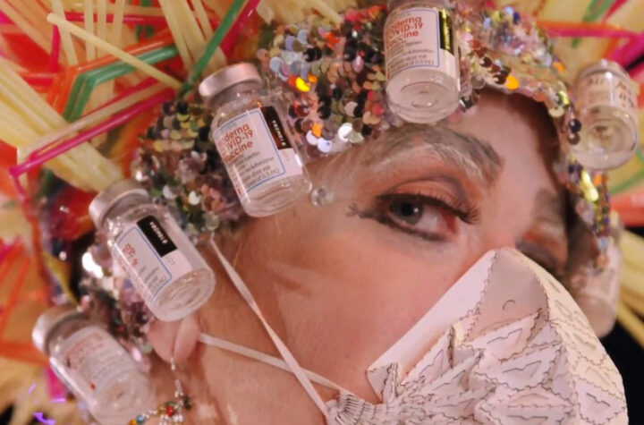 Winning design at Juneau Wearable Art Extravaganza features discarded COVID-19 vaccine vials